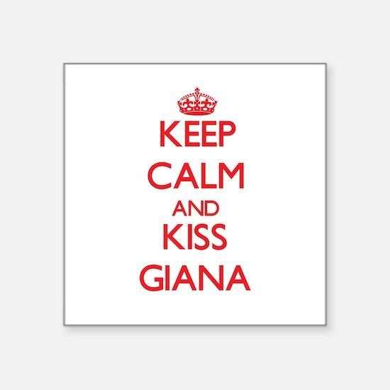Keep Calm and Kiss Giana Sticker