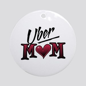 Uber Mom Mother's Day Heart Ornament (Round)