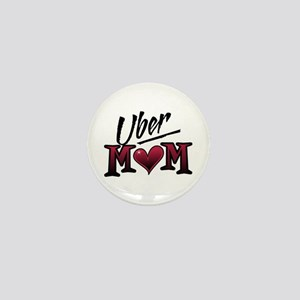 Uber Mom Mother's Day Heart Mini Button