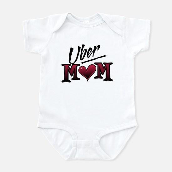 Uber Mom Mother's Day Heart Infant Bodysuit