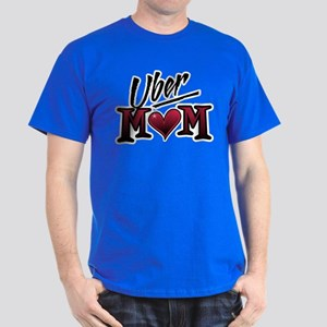 Uber Mom Mother's Day Heart Dark T-Shirt