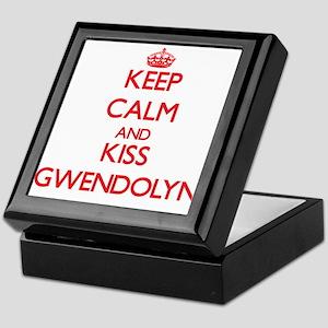 Keep Calm and Kiss Gwendolyn Keepsake Box