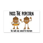Pass Popcorn Nuts Wall Decal