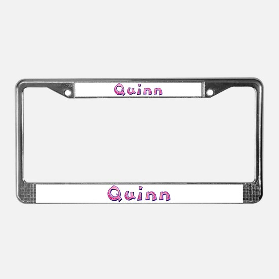 Quinn Pink Giraffe License Plate Frame