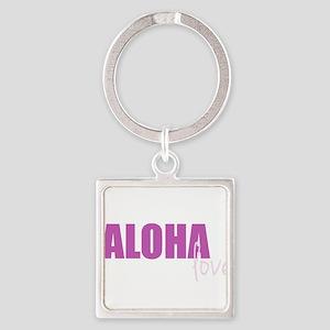Love, Aloha Pink Keychains