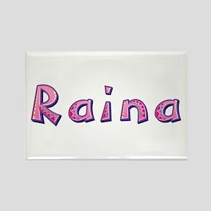 Raina Pink Giraffe Rectangle Magnet
