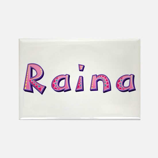 Raina Pink Giraffe Rectangle Magnet