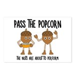 Pass Popcorn Nuts Postcards (Package of 8)