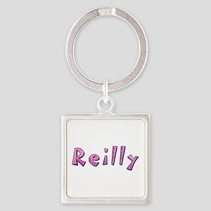 Reilly Pink Giraffe Square Keychain