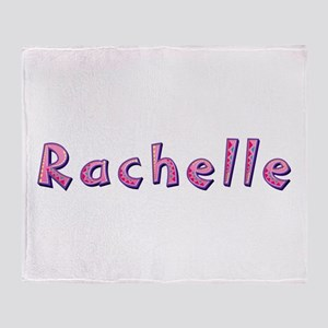 Rachelle Pink Giraffe Throw Blanket
