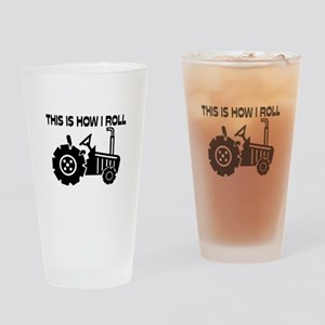This Is How I Roll Farming Tractor Drinking Glass