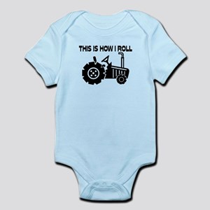 This Is How I Roll Farming Tractor Infant Bodysuit