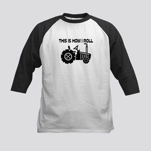 This Is How I Roll Farming Tr Kids Baseball Jersey