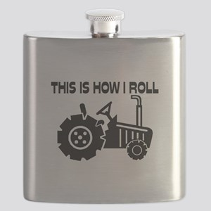 This Is How I Roll Farming Tractor Flask