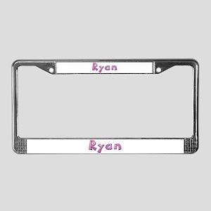Ryan Pink Giraffe License Plate Frame