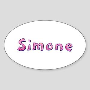 Simone Pink Giraffe Oval Sticker