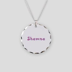 Shawna Pink Giraffe Necklace Circle Charm