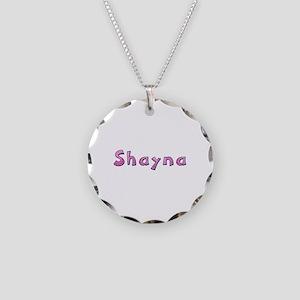 Shayna Pink Giraffe Necklace Circle Charm