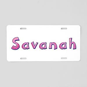 Savanah Pink Giraffe Aluminum License Plate