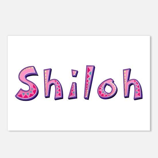 Shiloh Pink Giraffe Postcards 8 Pack