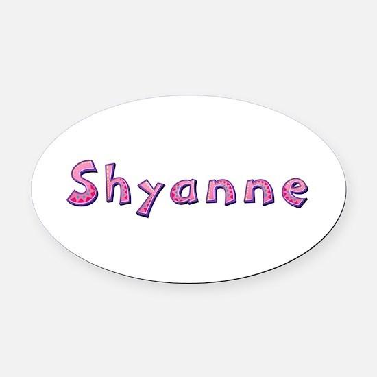 Shyanne Pink Giraffe Oval Car Magnet