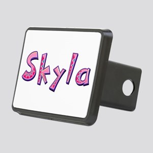 Skyla Pink Giraffe Rectangular Hitch Cover