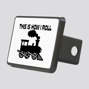 This Is How I Roll Train Rectangular Hitch Cover