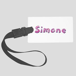 Simone Pink Giraffe Large Luggage Tag