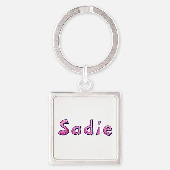 Sadie Pink Giraffe Square Keychain