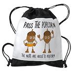 Pass Popcorn Nuts Drawstring Bag