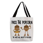 Pass Popcorn Nuts Polyester Tote Bag