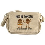 Pass Popcorn Nuts Messenger Bag