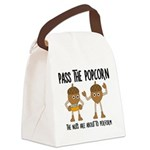 Pass Popcorn Nuts Canvas Lunch Bag