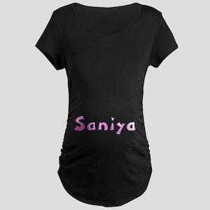 Saniya Pink Giraffe Maternity Dark T-Shirt