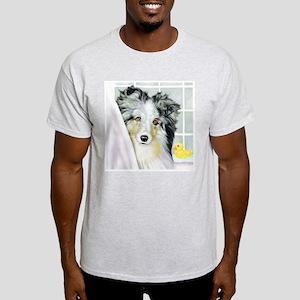 Blue Merle Sheltie Bath Light T-Shirt