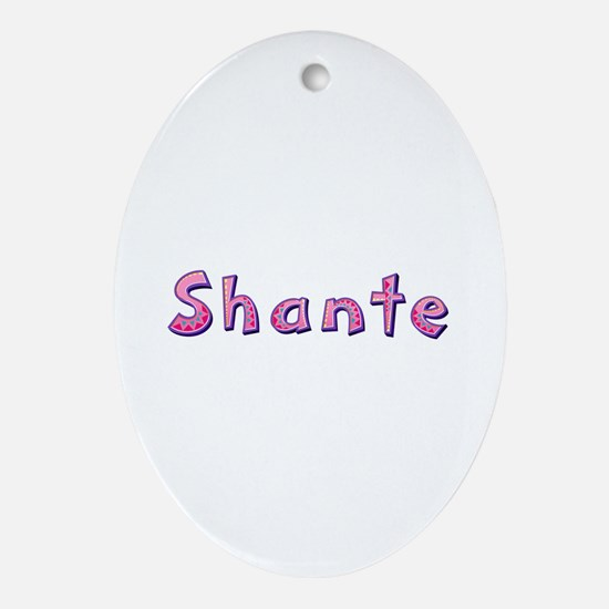 Shante Pink Giraffe Oval Ornament