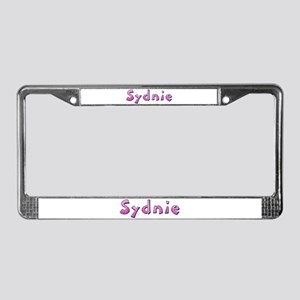 Sydnie Pink Giraffe License Plate Frame
