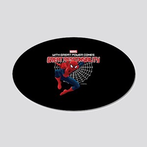 Spiderman: With Great Power 20x12 Oval Wall Decal