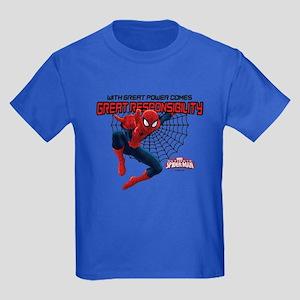 Spiderman: With Great Power Kids Dark T-Shirt