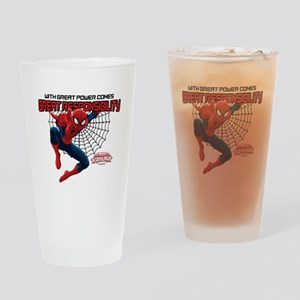Spiderman: With Great Power Drinking Glass