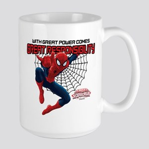 Spiderman: With Great Power Large Mug