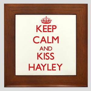 Keep Calm and Kiss Hayley Framed Tile