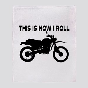 This Is How I Roll Dirt Bike Throw Blanket