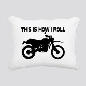 This Is How I Roll Dirt Rectangular Canvas Pillow