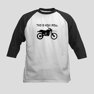 This Is How I Roll Dirt Bike Kids Baseball Jersey