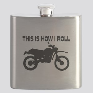This Is How I Roll Dirt Bike Flask