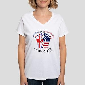 British American Baby Women's V-Neck T-Shirt