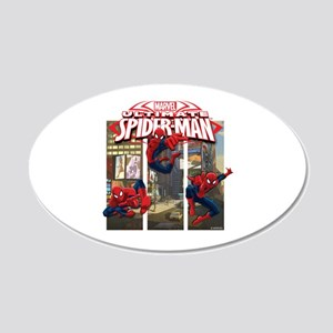 Spiderman 20x12 Oval Wall Decal