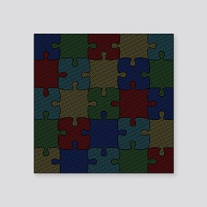 "Autism Awareness Month 2014 Square Sticker 3"" x 3"""