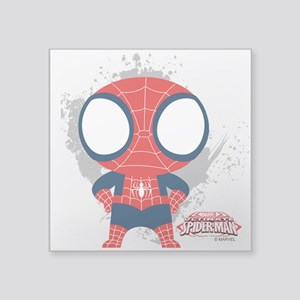 "Spiderman Mini Square Sticker 3"" x 3"""